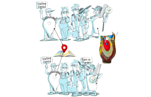 TURISTA PROTETTO: CAMPAGNA SUL VETRO DI MURANO ORIGINALE