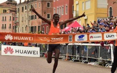 Murano crosses the finish line of the 33rd Huawei Venicemarathon